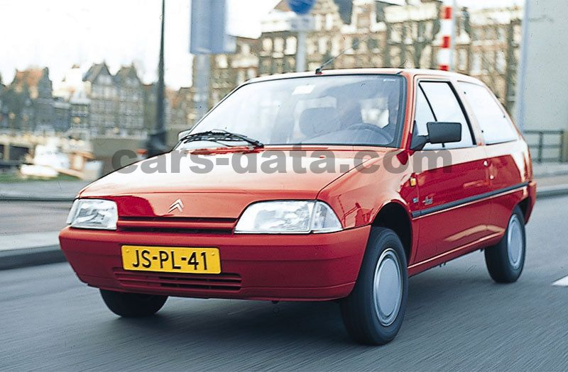 Toyota Company Latest Models >> Citroen AX GT, Manual, 1991 - 1993, 75 Hp, 3 doors Technical Specifications
