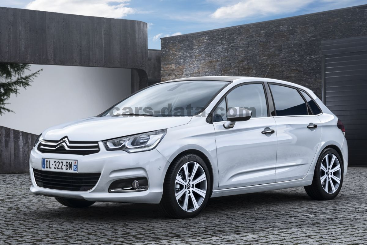 citroen c4 bluehdi 150 shine manual 2015 present 150 hp 5 doors technical specifications. Black Bedroom Furniture Sets. Home Design Ideas