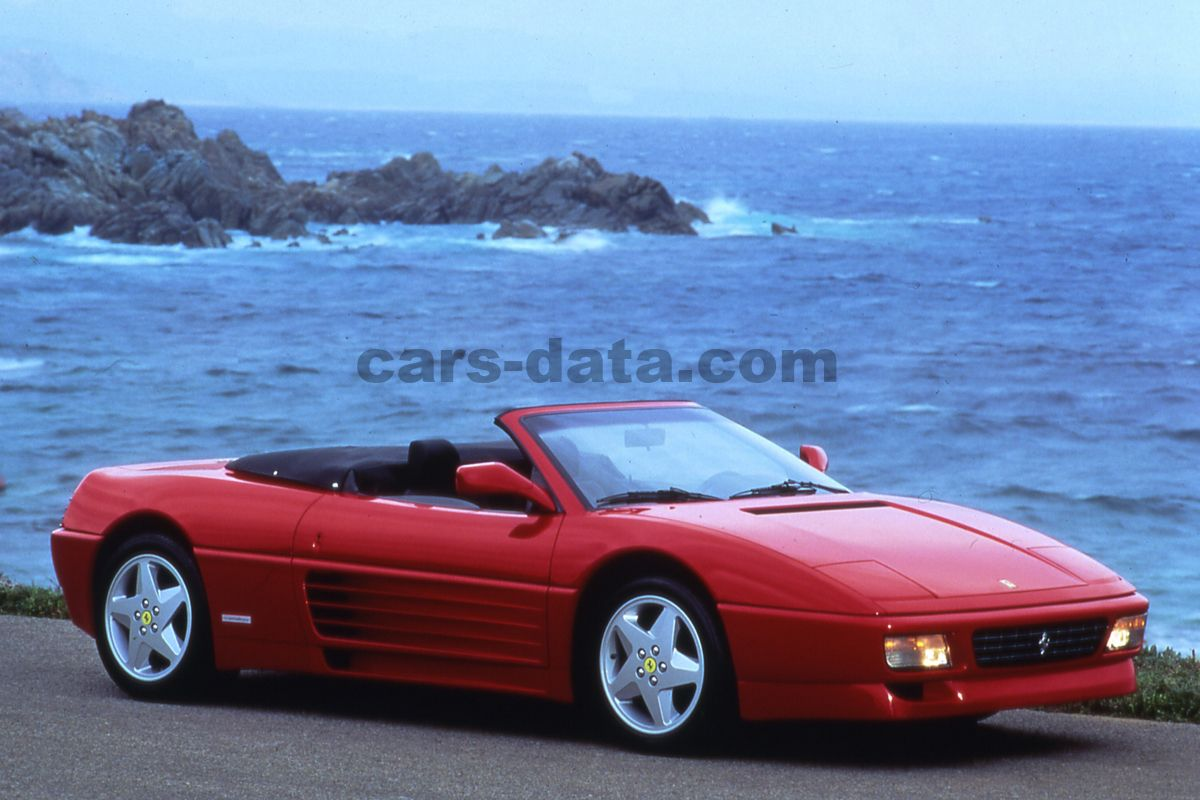 Ferrari 348 Spider 1993 pictures (1 of 10) | cars-data.com