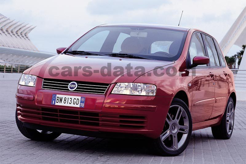 fiat stilo 1 9 jtd 80 active manual 2002 2004 80 hp 5 doors technical specifications. Black Bedroom Furniture Sets. Home Design Ideas