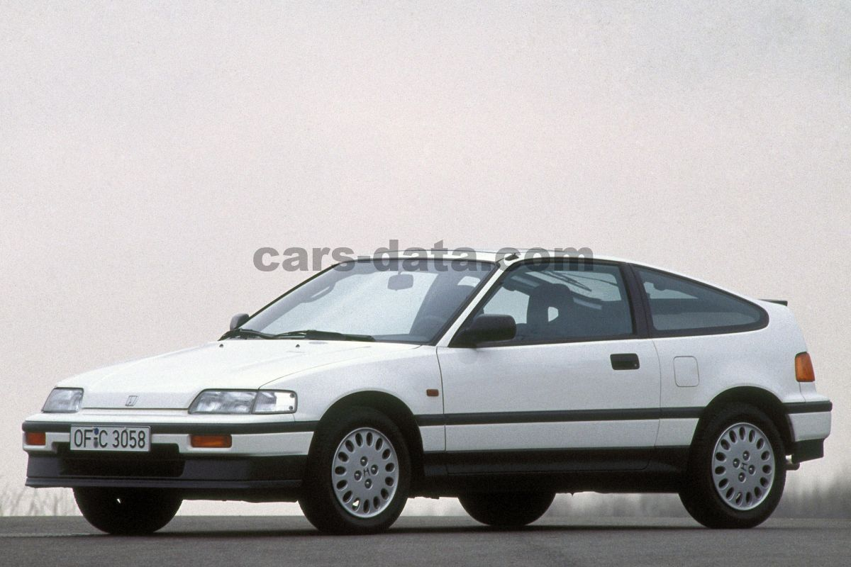 Honda Civic Crx Coupe 1 6i Vtec Manual 1990 1992 150 Hp 3 Doors Technical Specifications