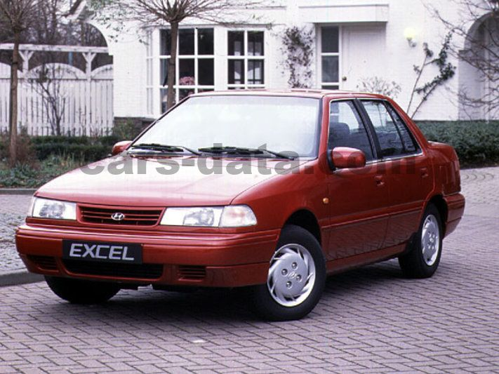 Hyundai Excel 1 5i Gls Manual 1993 1994 84 Hp 4 Doors Technical Specifications