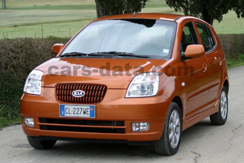 kia picanto 1 0 l manual 2005 2007 61 hp 5 doors technical specifications. Black Bedroom Furniture Sets. Home Design Ideas