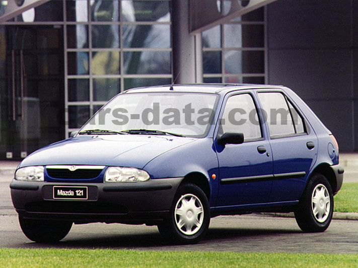 Mazda 121 1.3i LX manual 5 door specs | cars-data.com