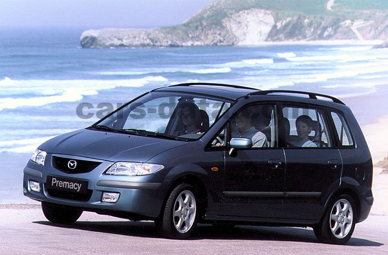 mazda premacy 1 8 exclusive manual 1999 2001 100 hp 5 doors technical specifications. Black Bedroom Furniture Sets. Home Design Ideas