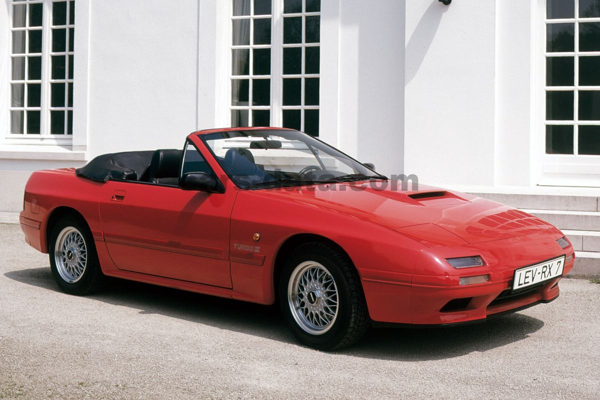 mazda rx 7 cabriolet turbo ii manual 1990 1992 200 hp 2 doors technical specifications. Black Bedroom Furniture Sets. Home Design Ideas