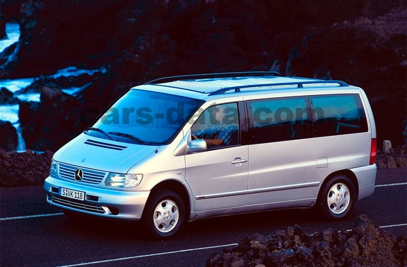 Mercedes-Benz V-class 1999 pictures (1 of 10)   cars-data.com