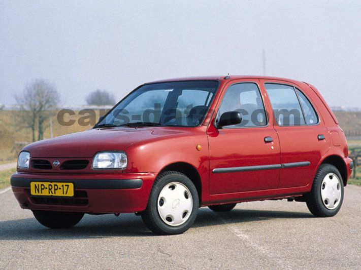 Japanese Car Brands >> Nissan Micra 1.3 GX manual 5 door specs | cars-data.com