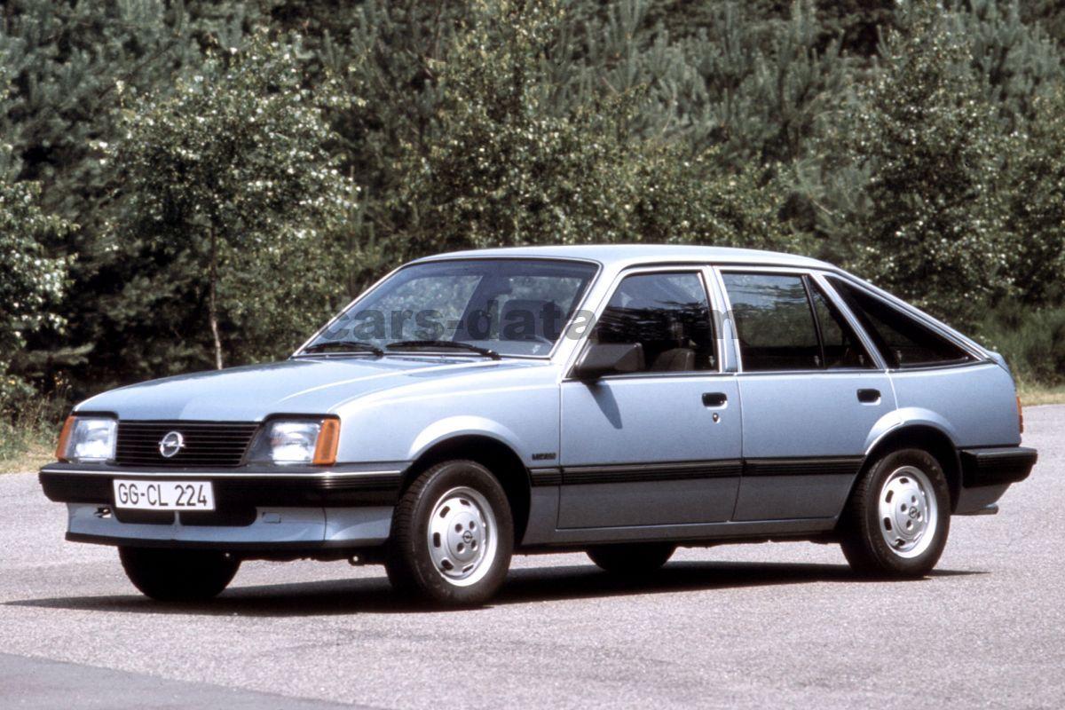 Opel Ascona 1.8 E CD manual 5 door specs | cars-data.com