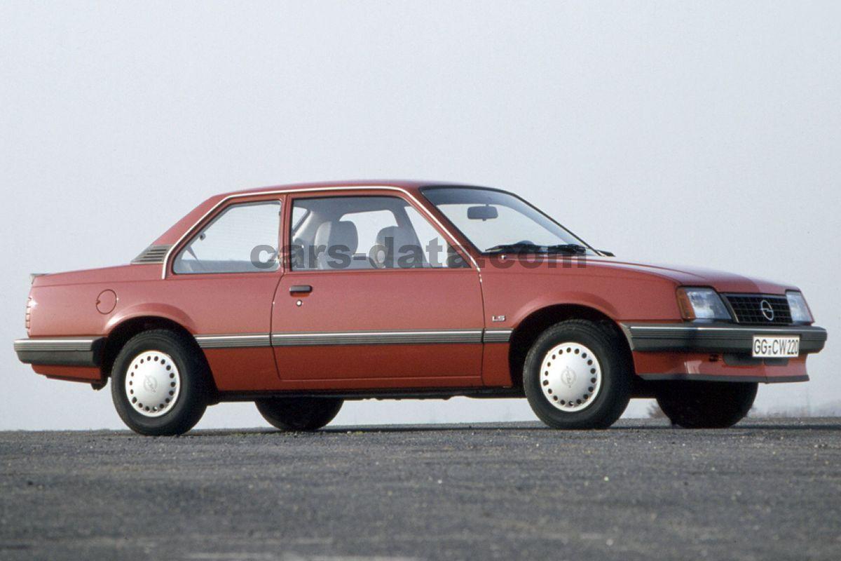 opel ascona gt 95kw manual 2 door specs cars. Black Bedroom Furniture Sets. Home Design Ideas