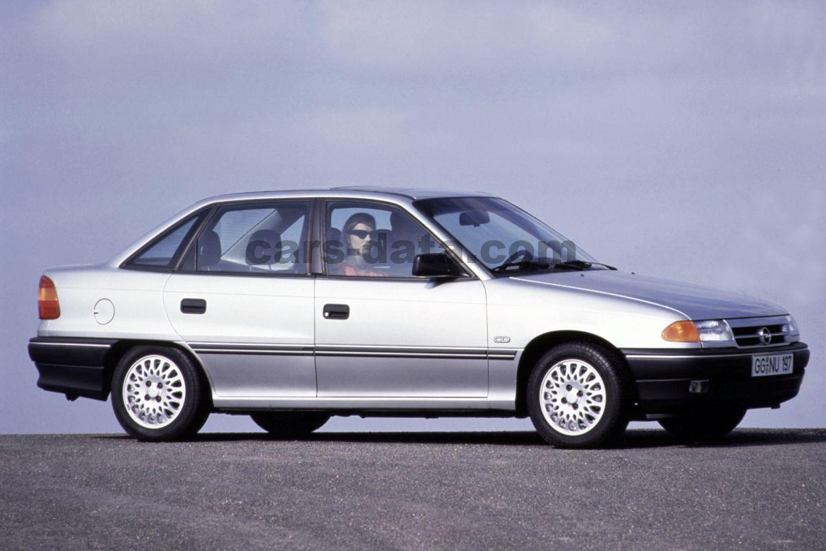 Opel Astra 1 6i Gls Manual 4 Doors Specs Cars Data Com
