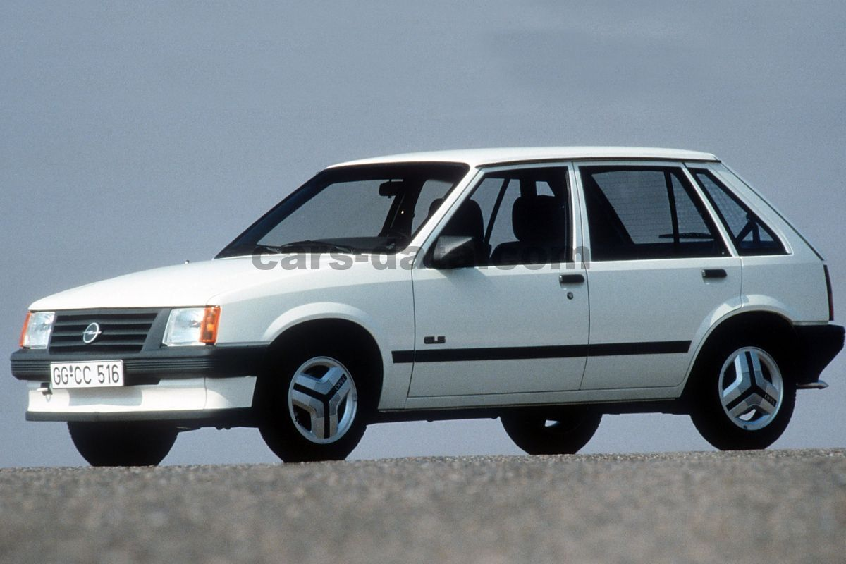 opel corsa 1 2 s gls manual 1985 1988 54 hp 5 doors technical specifications. Black Bedroom Furniture Sets. Home Design Ideas