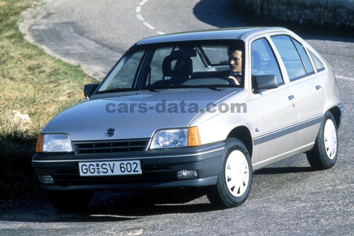 Mitsubishi Electric Car >> Opel Kadett 2.0 GSi, Manual, 1989 - 1989, 129 Hp, 5 doors Technical Specifications