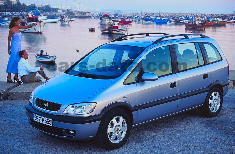 Smart Car Honda >> Opel Zafira 1.8i-16V Elegance manual 5 door specs | cars-data.com