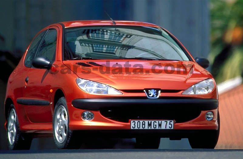 peugeot 206 xs 1 6 16v manual 2000 2002 110 hp 3. Black Bedroom Furniture Sets. Home Design Ideas