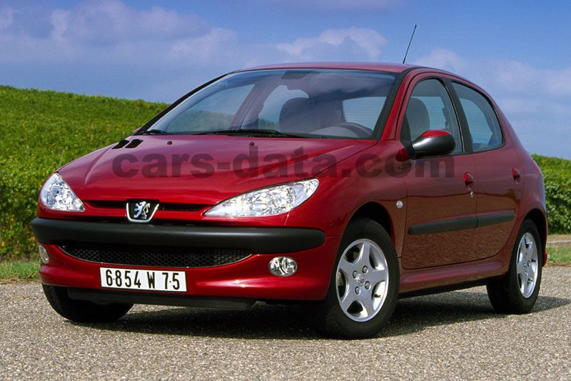 peugeot 206 x line 1 4 hdi manual 2002 2005 70 hp 5 doors technical specifications. Black Bedroom Furniture Sets. Home Design Ideas