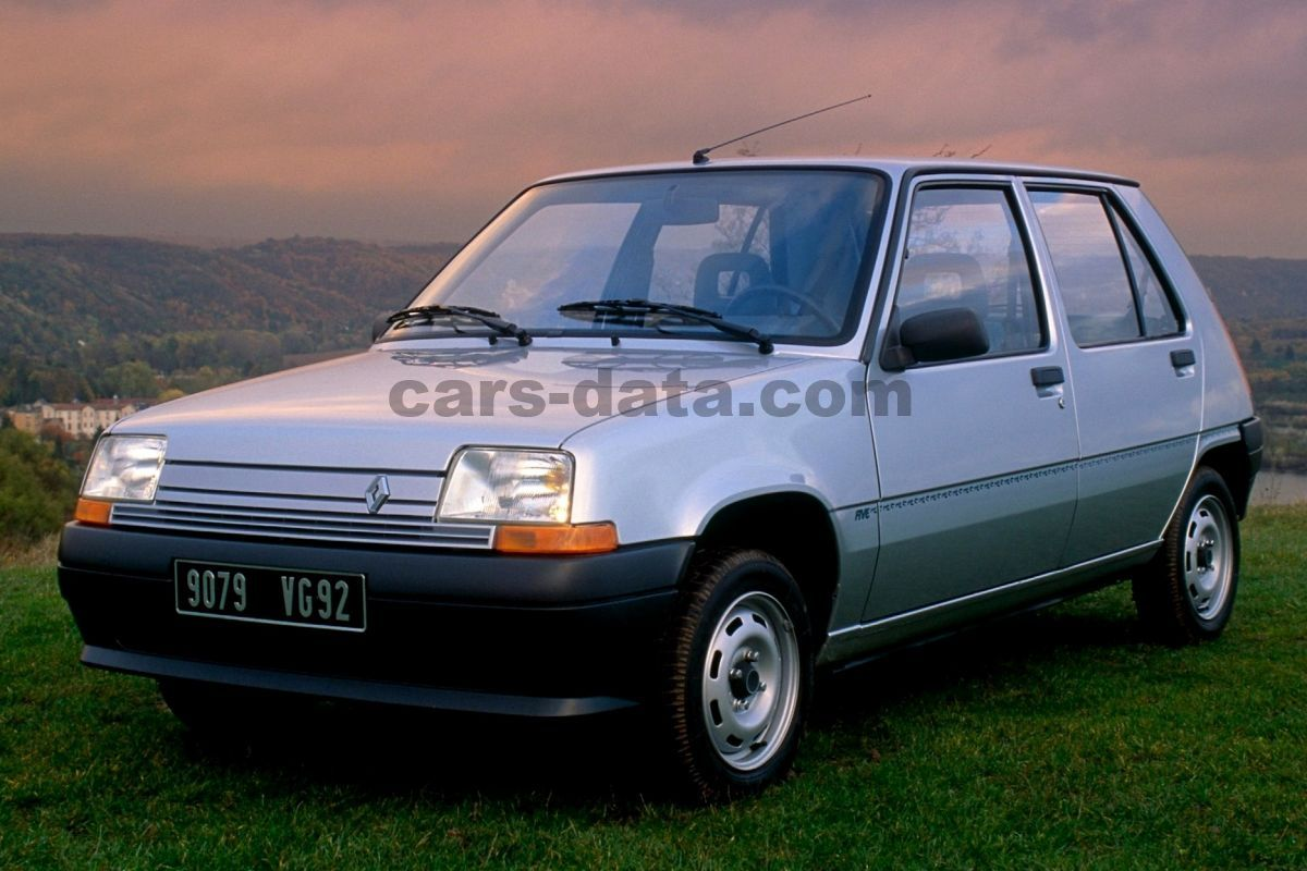 renault 5 gtx manual 1989 1990 75 hp 5 doors technical specifications. Black Bedroom Furniture Sets. Home Design Ideas