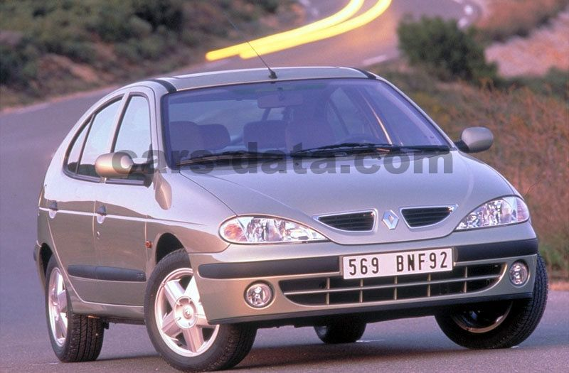 Renault Megane 1 6 16v Authentique Manual 2000 2002 107 Hp 5 Doors Technical Specifications