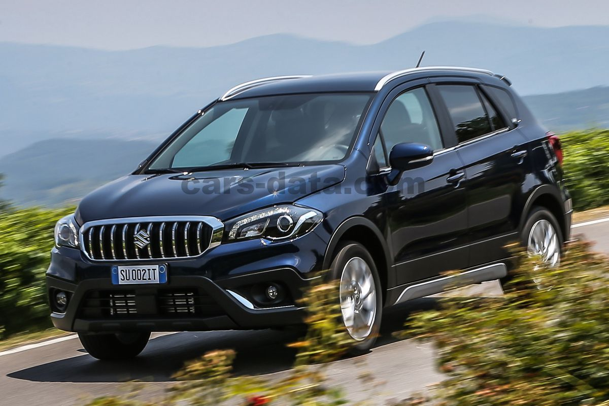 Japanese Car Brands >> Suzuki S-Cross 1.4 Boosterjet Rhino manual 5 door specs | cars-data.com