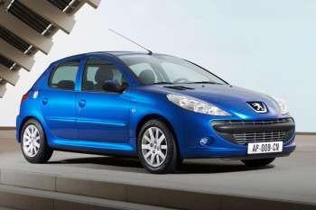 peugeot 206+ xr 1.1, manual, 2010 - 2011, 60 hp, 5 doors technical