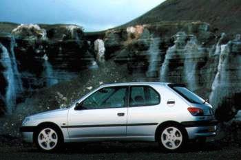 peugeot 306 xn 1.4, manual, 1997 - 1999, 75 hp, 3 doors technical