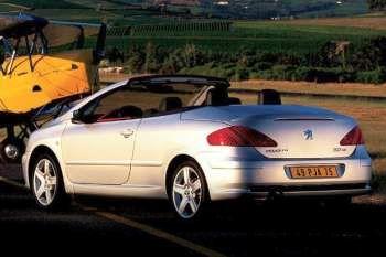 peugeot 307 cc 1.6 16v, manual, 2004 - 2005, 110 hp, 2 doors