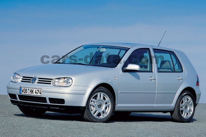 Volkswagen Golf 1 6 16v Highline Manual 2000 2003 105 Hp 5 Doors Technical Specifications